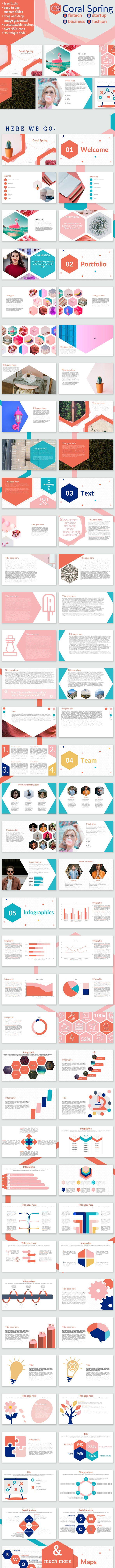 Coral Spring Keynote Fintech Startup Business Presentation - Keynote Templates Presentation Templates