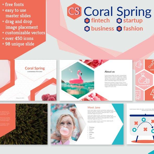 Coral Spring Keynote Fintech Startup Business Presentation
