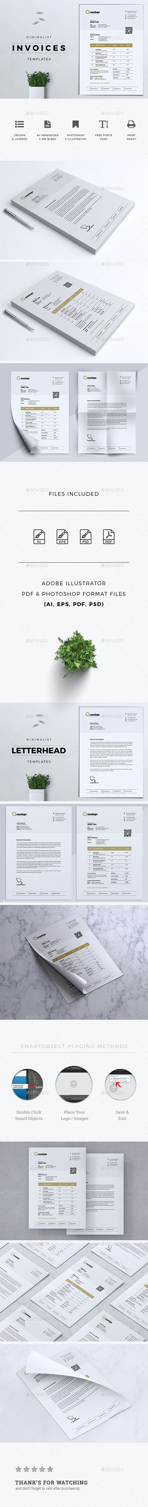 Minimal Invoices with Letterhead - Proposals & Invoices Stationery
