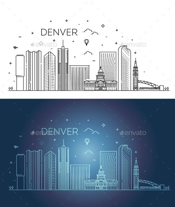 Colorado Denver City Skyline - Buildings Objects