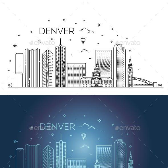 Colorado Denver City Skyline