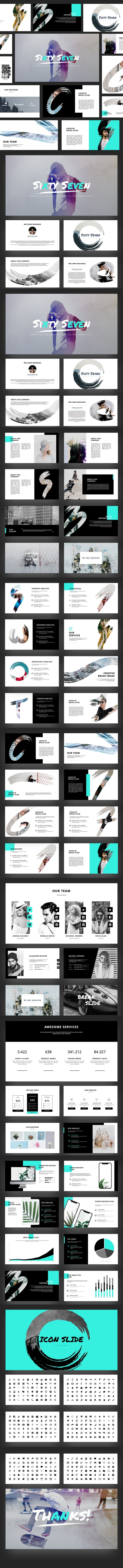 Sixty Seven - Creative Brush Keynote Template - Creative Keynote Templates