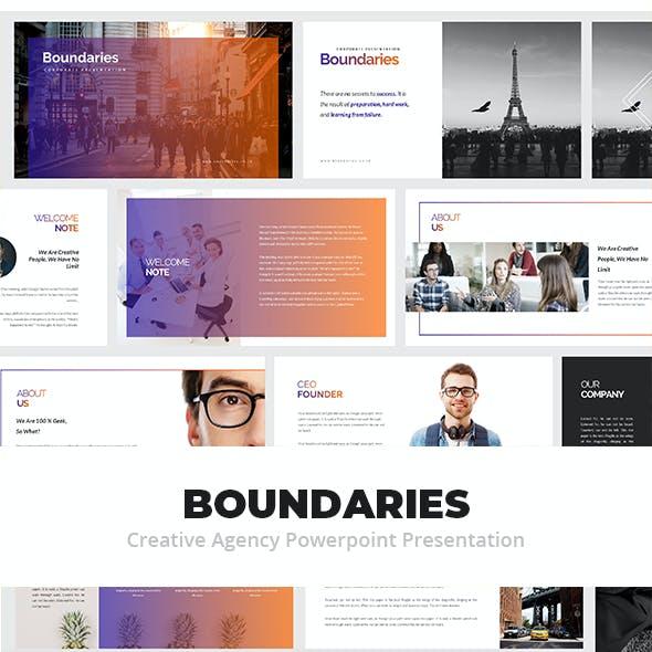 Boundaries Creative Agency Powerpoint Presentation