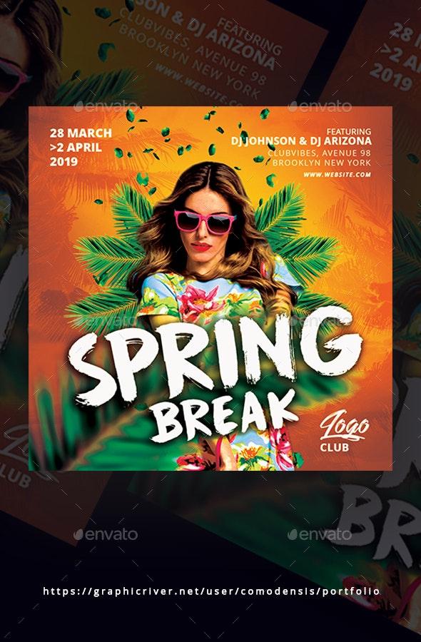 Spring Break Party Flyer - Events Flyers