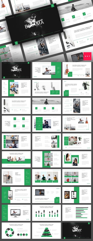 Birama - Music PowerPoint Template - Creative PowerPoint Templates