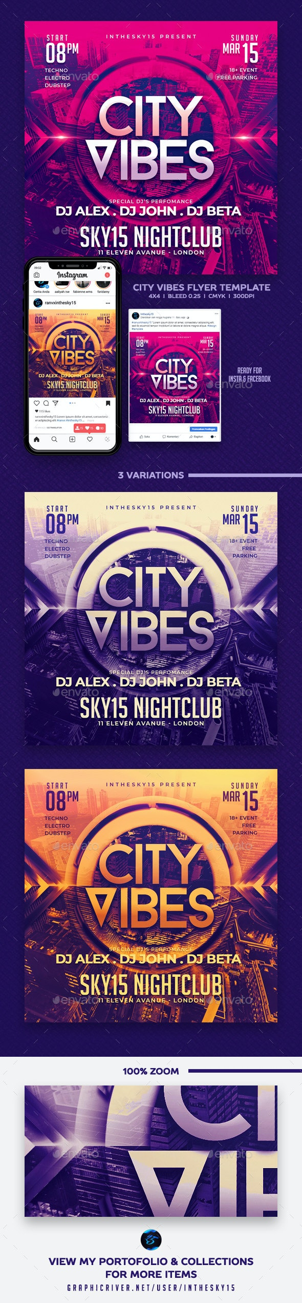 City Vibes Flyer Template - Flyers Print Templates