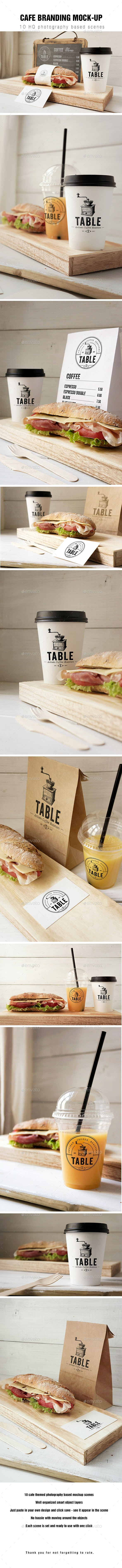Cafe Branding Mockup - Food and Drink Packaging
