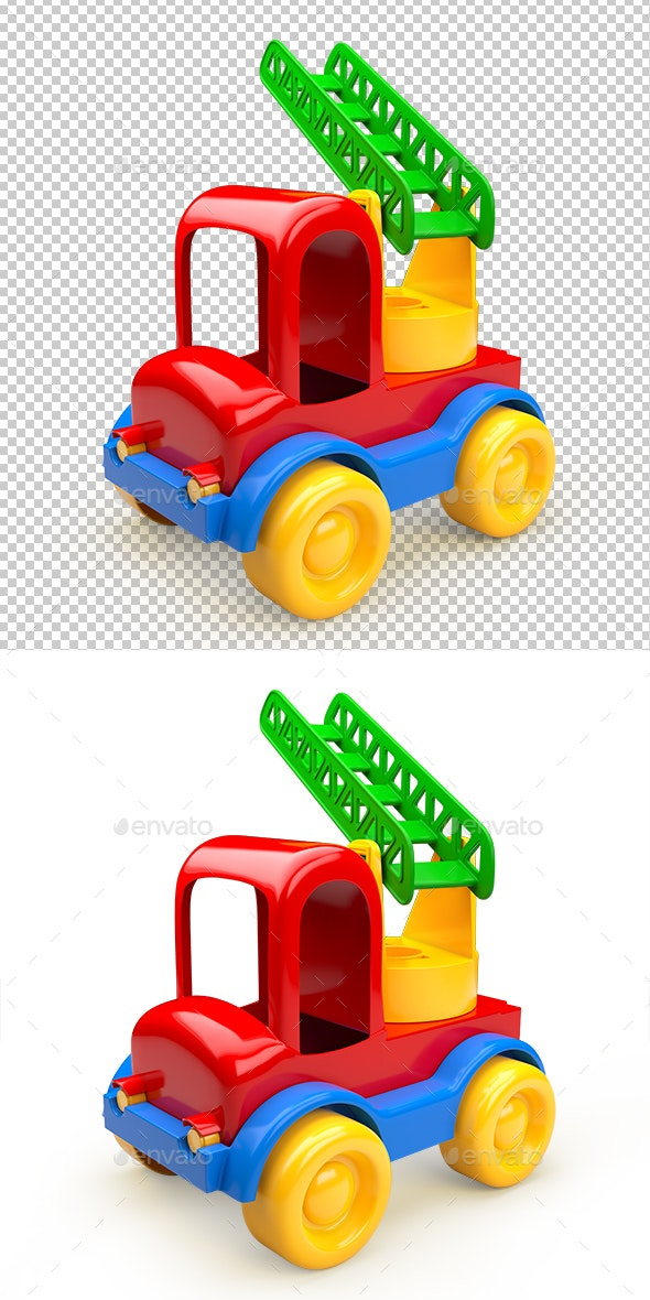 Car Toy with Stairs. 3D Illustration - Miscellaneous 3D Renders