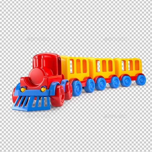 Train Isolated on White Background