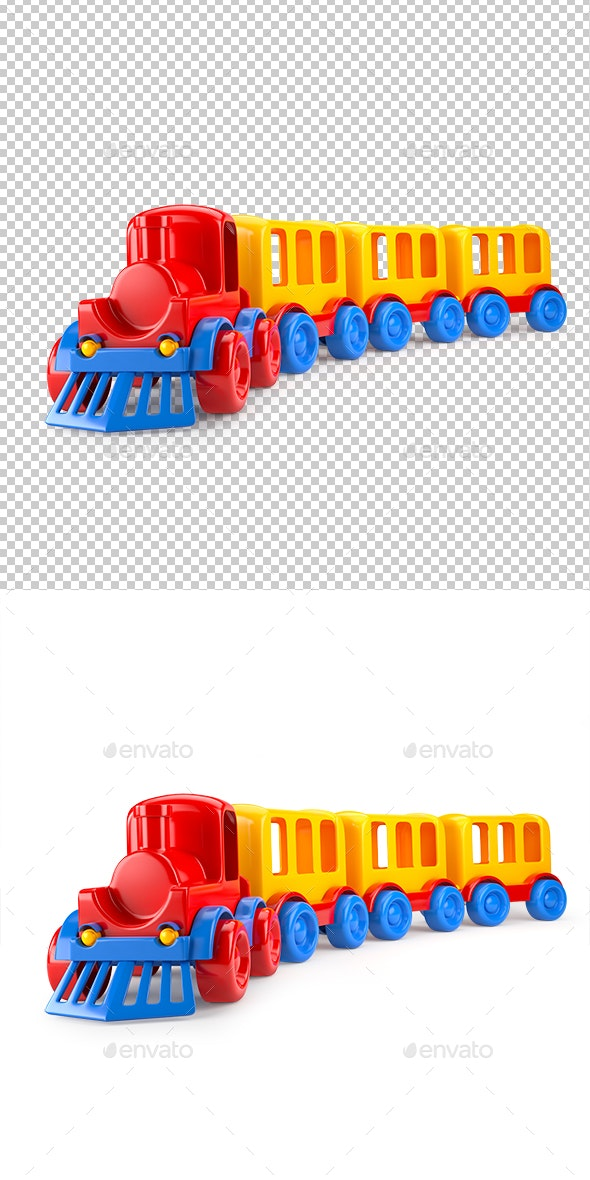 Train Isolated on White Background - Miscellaneous 3D Renders