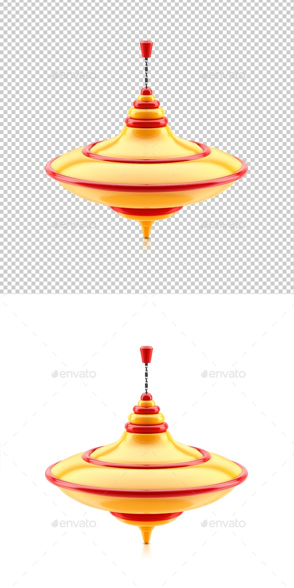 Spinning Top Isolated on White Background. 3d - Objects 3D Renders