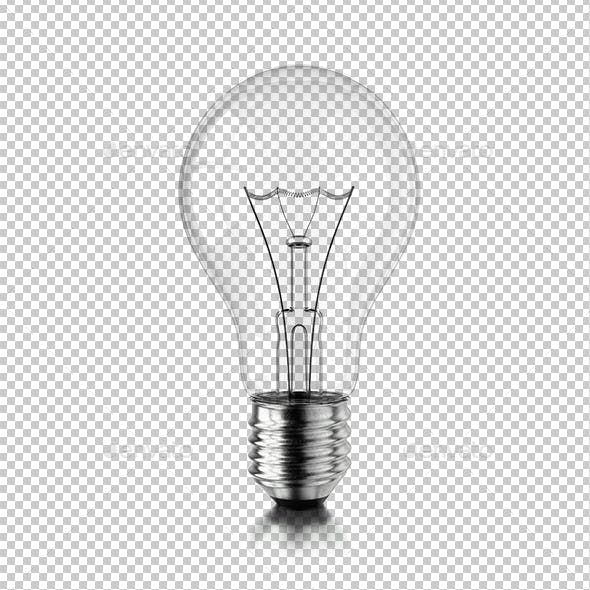Lamp Bulb on White Background