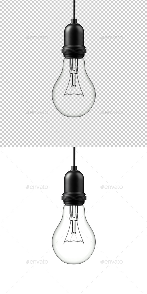 Lamp Light Bulb Isolated on White Background - Miscellaneous 3D Renders