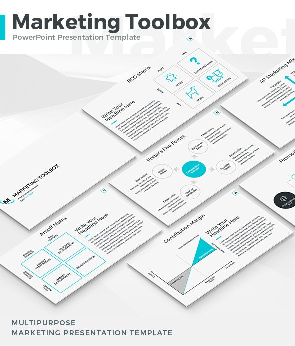 Marketing Toolbox PowerPoint Template - Business PowerPoint Templates