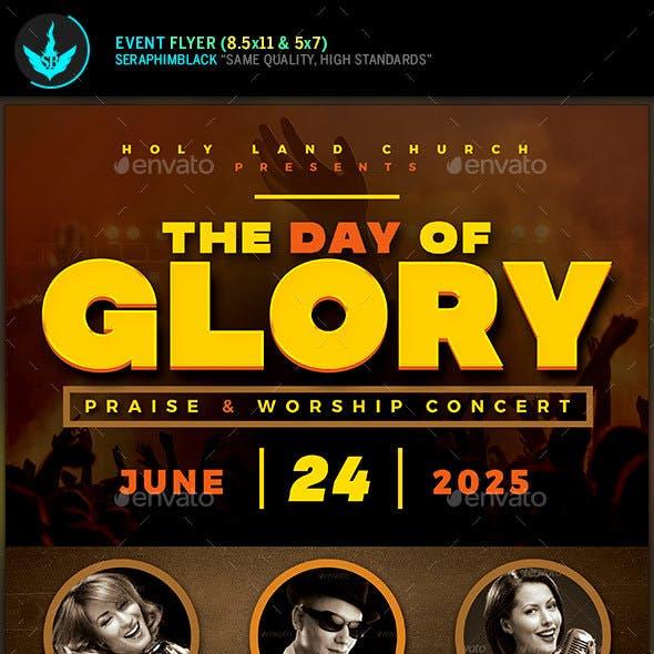 Day of Glory Gospel Concert Flyer Template
