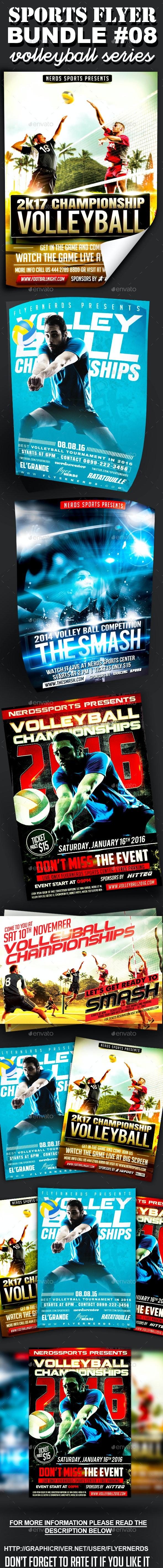 Sports Flyer Bundle 08 Volleyball Series - Sports Events