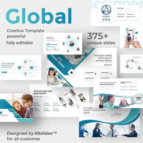 Global Impact Pitch Deck Keynote Template
