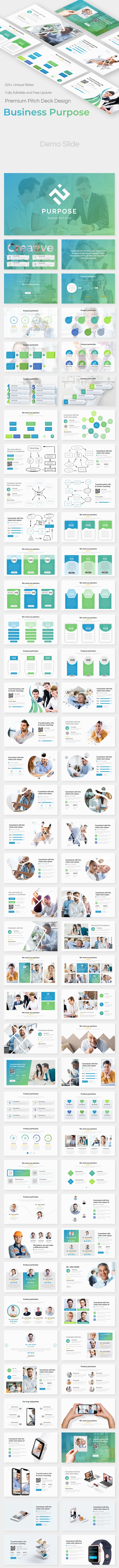 Business Purpose Pitch Deck Powerpoint Template - Business PowerPoint Templates