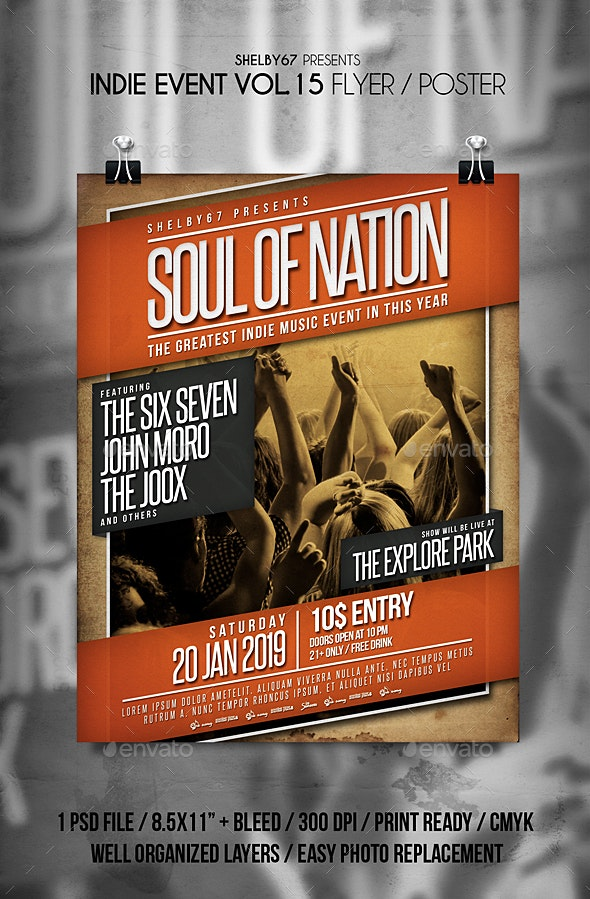 Indie Event Flyer / Poster Vol 15 - Events Flyers