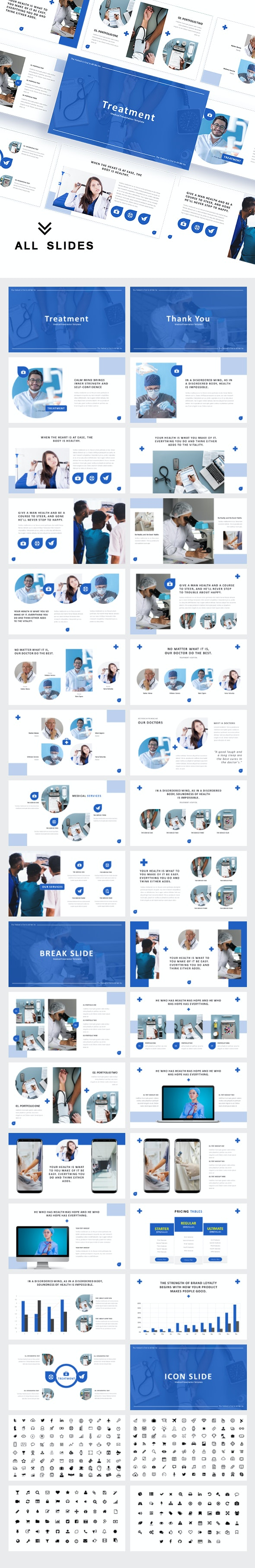 Treatment Medical Powerpoint Template - Business PowerPoint Templates