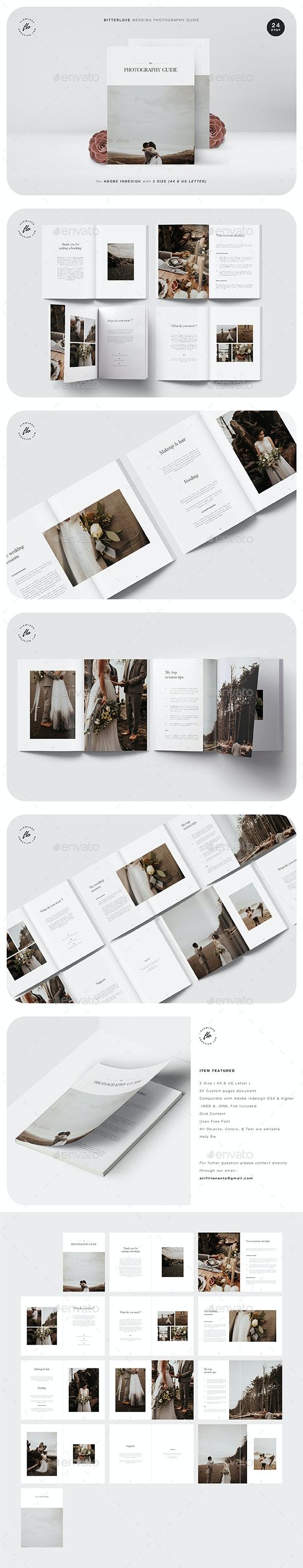 Bitterlove Wedding Photography Guide - Magazines Print Templates