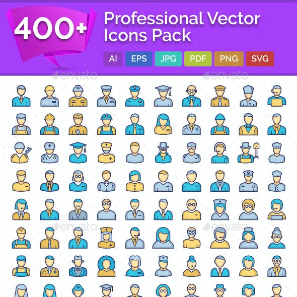 400+ Professional Vector Icons Pack