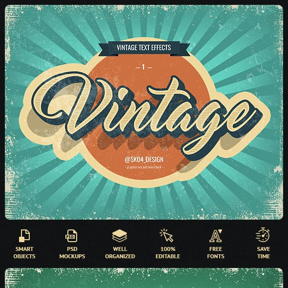 Vintage Text Effects