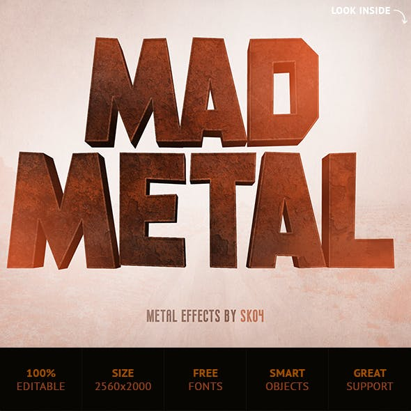 Mad Metal Effects - 8 PSD