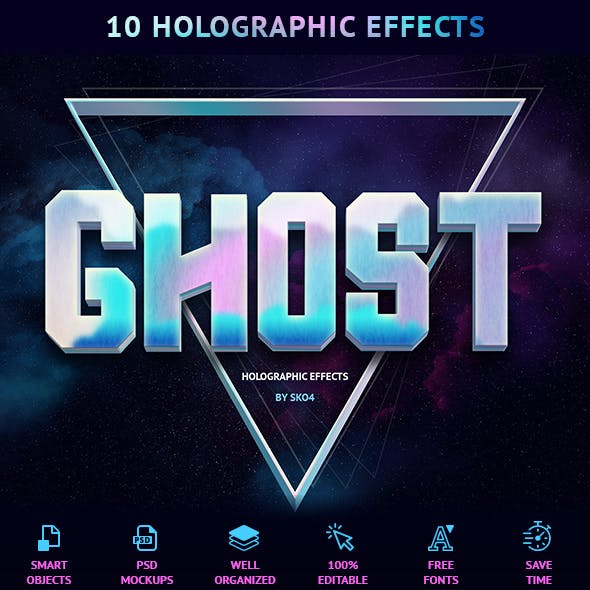 Holographic Effects - 10 PSD Mockups