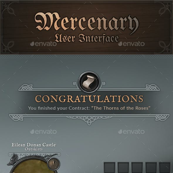Mercenary - RPG User Interface