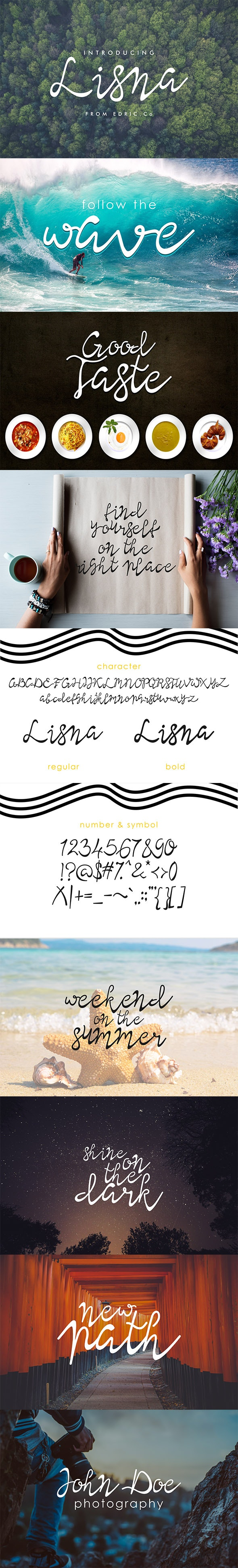 Lisna Manual Calligraphy Font Family - Calligraphy Script