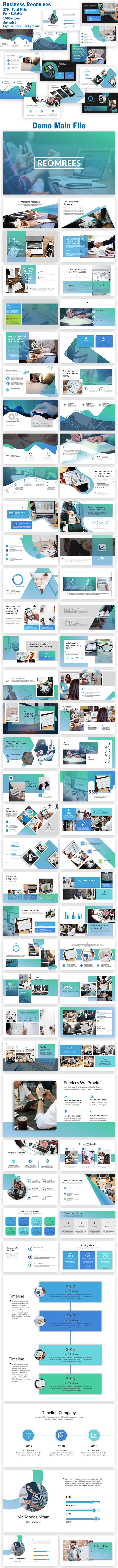 Business Reomrees PowerPoint Template - Business PowerPoint Templates