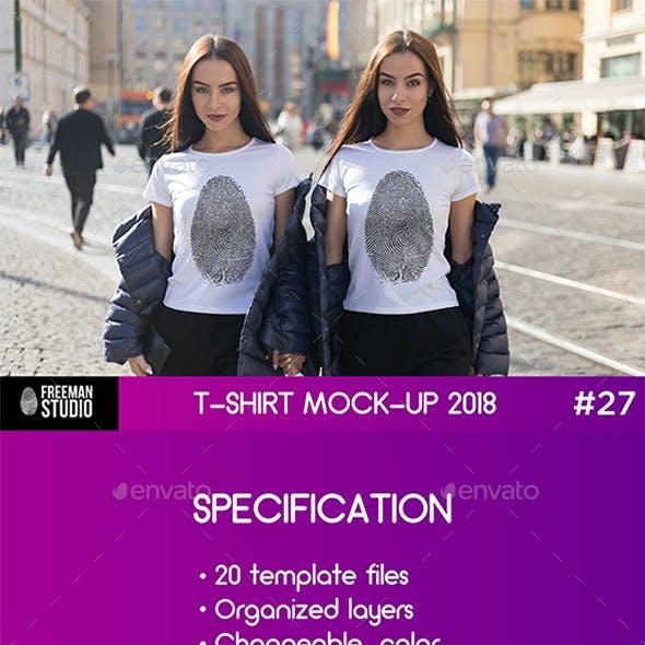 Twins T-Shirt Mock-Up 2018 #27