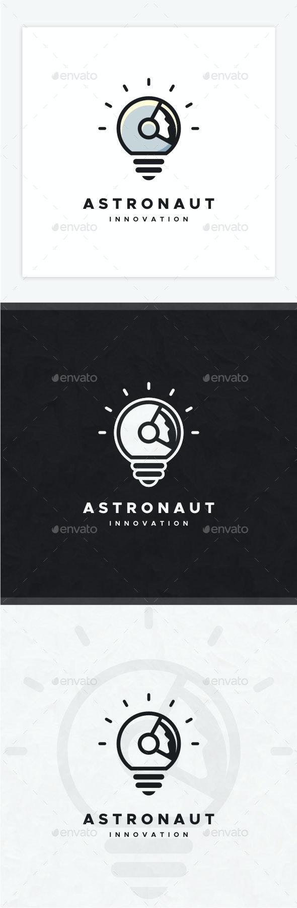 Astronaut Innovation Logo - Humans Logo Templates