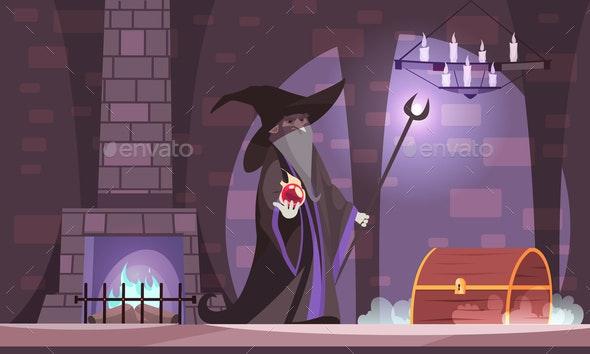 Wicked Magician Illustration - Miscellaneous Vectors