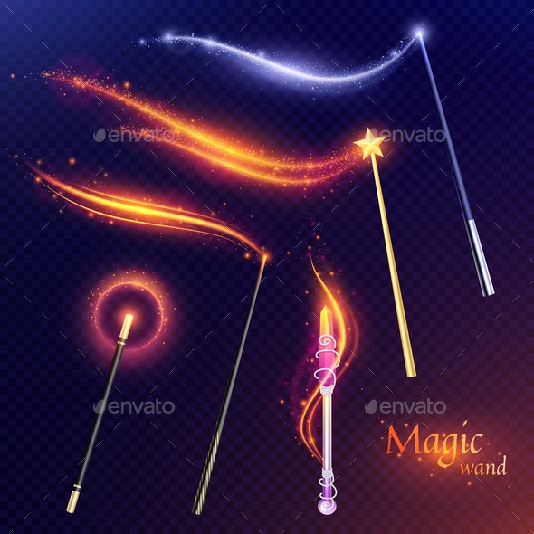 Magic Wands Transparent Set - Patterns Decorative