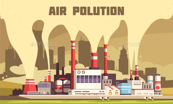Air Pollution Poster - Industries Business