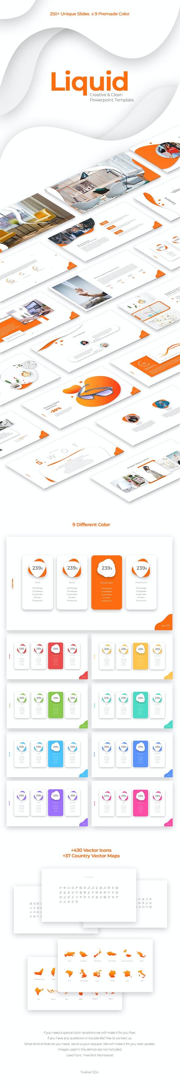 Liquid Creative & Clean Powerpoint Template - PowerPoint Templates Presentation Templates