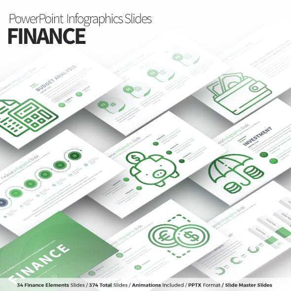 Finance - PowerPoint Infographics Slides