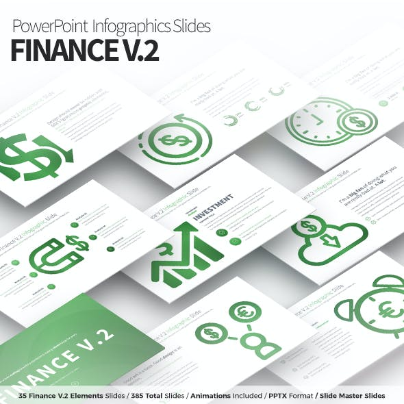 Finance V.2 - PowerPoint Infographics Slides
