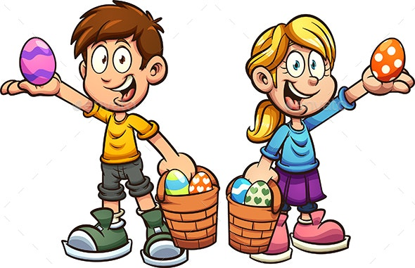 Easter Egg Kids - People Characters