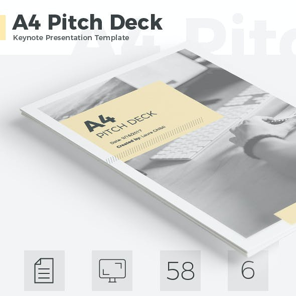 A4 Pitch Deck Vertical Keynote Template