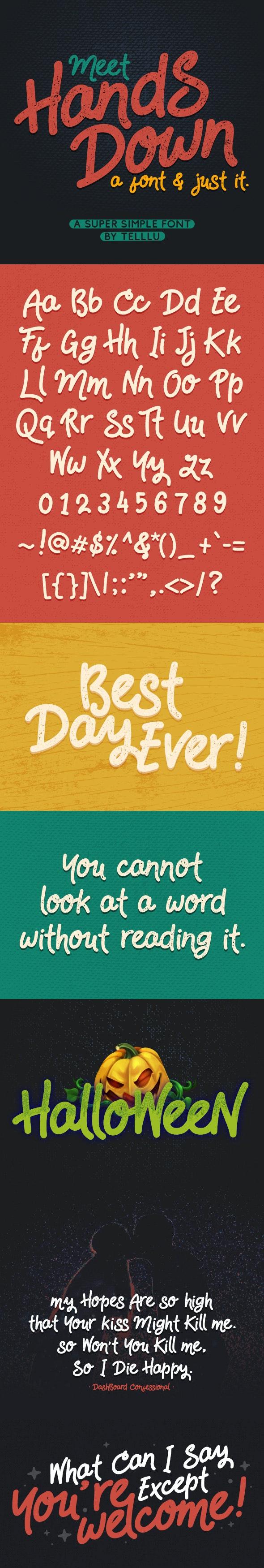 HandsDown - Cool Fonts