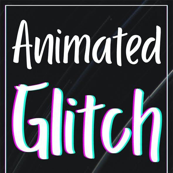 Animated Glitch Photoshop Action v1.0