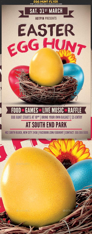 Easter Egg Hunt Flyer Template - Events Flyers