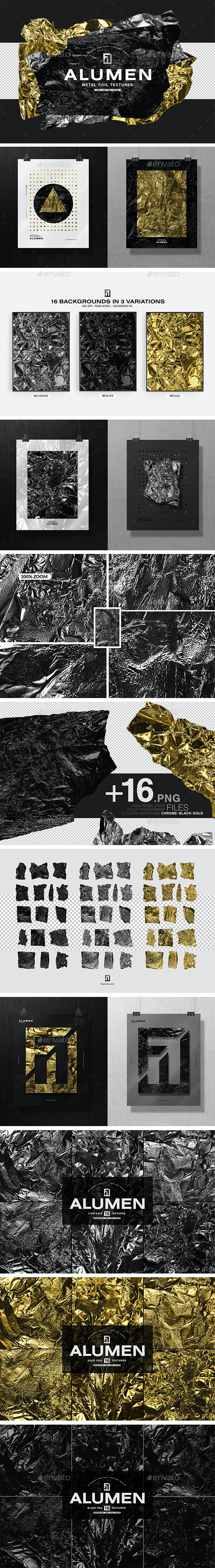 ALUMEN - Metal Foil textures - Abstract Textures