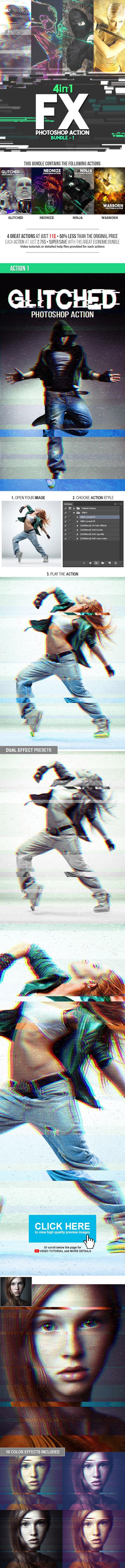 FX Photoshop Action Bundle v1 - Photo Effects Actions