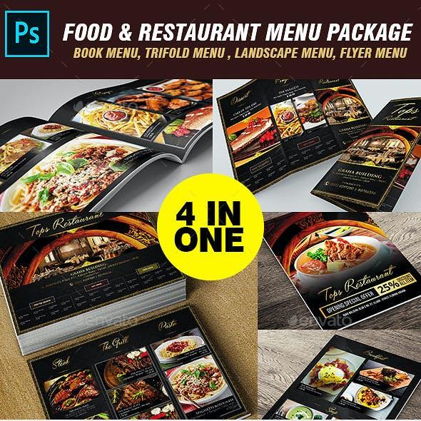 Restaurant Menu Packages