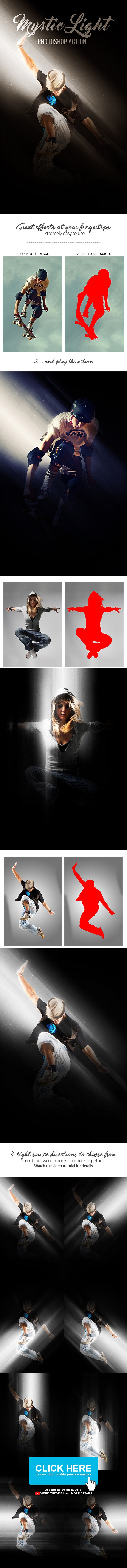 Mystic Light Photoshop Action - Photo Effects Actions