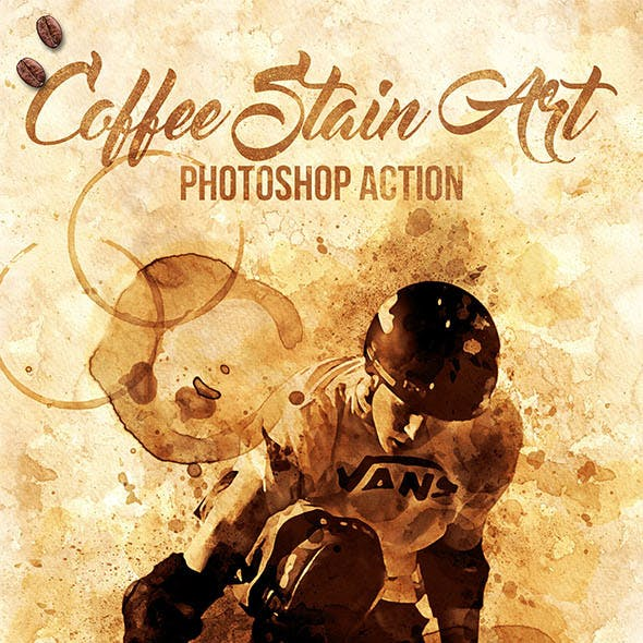 Coffee Stain Art Photoshop Action